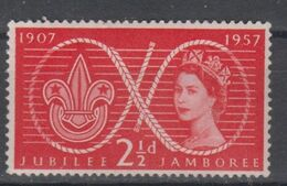 GREAT BRITAIN 1957 JUBILEE JAMBOREE - 1952-.... (Elisabetta II)