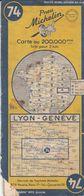 MICHELIN 74, FRANCE, LYON - GENEVE - Cartes Routières