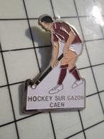 615B Pin's Pins / Beau Et Rare / THEME : SPORTS / HOCKEY SUR GAZON CAEN - Pin's