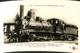 030 019 - CPSM - Thèmes - Les Locomotives Française - Machine N° 030-729 - Trains