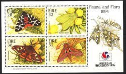 1994-(MNH=**) Irlanda Foglietto 4v.Fauna E Flora - Ohne Zuordnung