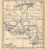 Carte Des Principaux Itineraires Transsahrien. Stampa 1930 - Prints & Engravings