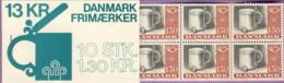 1980-(MNH=**) Danimarca Libretto 10 Valori L711 Norden Consiglio Nordico - Insured