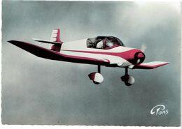 CPSM FRANCE THEMES TRANSPORTS AERONAUTIQUE - JODEL D 117 Biplace - Aviones