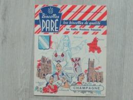 Biscotte Paré - Série Les Vieilles Provinces Françaises - Champagne - Carte Assorbenti
