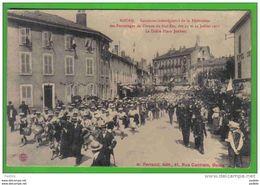 Carte Postale 01. Bourg Concours Interrégional Des Patronnages  Juillet 1911  Le Défilé  Place Joubert - Bourg-en-Bresse