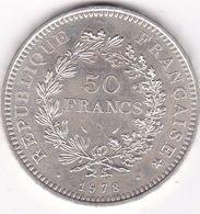 50 FRANCS  HERCULE   1978   EN ARGENT - France