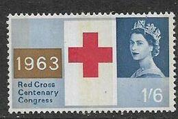 Great Britain EIIR, 1963 Red Cross, Phosphor 1/6, MNH ** - 1952-.... (Elisabetta II)