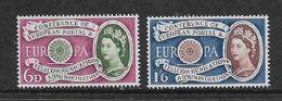 Great Britain EIIR, 1960 Europa, 6d, 1/6, MNH ** - 1952-.... (Elisabetta II)