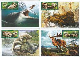 2872-2875 Mih 2655-2658 Russia 06 2020 NO EXTRA FEES Maximum Card 6 Prehistoric Fauna Dinosaurs Mammoths Paleontological - Prehistorics