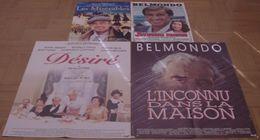 LOT 4 AFFICHES ORIGINALES FILMS JEAN-PAUL BELMONDO JOYEUSES PAQUES DESIRE LES MISERABLES INCONNU DANS MAISON - Affiches & Posters