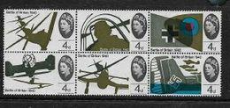 Great Britain EIIR, 1966 Battle Of Britain, 4d, Block Of 6 MH *, - 1952-.... (Elisabetta II)