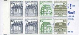 1982-(MNH=**) Germania Libretto 3DM Con Otto Valori Della Serie Castelli E Fortezze,Cat.Unificato Euro 9 - [7] République Fédérale