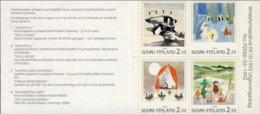 """1993-(MNH=**) Finlandia Libretto S.4v.""""Paesaggi Invernali Nordia"""" - Unused Stamps"""