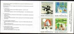 "1992-(MNH=**) Finlandia Serie Libretto 4 Valori ""Nordia 93 Terra Moomins""catalogo Euro 4 - Unused Stamps"