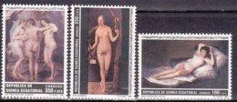 "1991-(MNH=**) Guinea Equatoriale S.3v.""Quadri,nudi Femminili"" - Equatorial Guinea"
