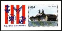 """1990-(MNH=**) Palau Foglietto S.1v.""""le Forze Armate Degli Stati Uniti Durante La Seconda Guerra Mondiale"""" - Palau"""