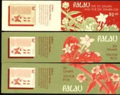 """1988-(MNH=**) Palau Tre Libretti Da $ 1,50+$ 2+$ 2,50 Per Complessivi Trenta Valori """"fiori"""" - Palau"""