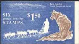 """1988-(MNH=**) Usa Libretto A Copertina """"grandi Americani Jack London"""" - Unused Stamps"""