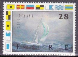 """1989-(MNH=**) Irlanda S.1v.""""barca A Vela In Corsa""""catalogo Euro 3 - Irlande"""