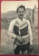 ALBANIA  SHKODER   SCUTARI   FOLK  ETHNIC   POSTE AJRORE  PAR AVION - Albanië