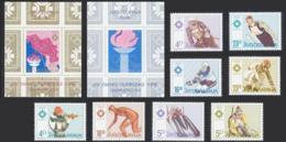 "1984-(MNH=**) Jugoslavia S.8v.+ 2 Foglietti ""giochi Olimpici Invernali Di Sarajevo"" Cat.Yvert 2009 Euro 10.50 - Unused Stamps"