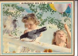 Calendrier 1970, Almanach Des P T T ,postes,  Jour De Fête, Sous Sa Protection,  ,Département 84 , Double Face - Calendriers