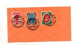 Lettre Cachet  Weimar Congres Sur  Timbre Concordant - Brieven En Documenten