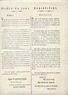 EMPIRE: RATISBONNE LE 24 AVRIL 1804, Ordre Du Jour Signé NAPOLEON Et Le Prince De Neuchatel  ALEXANDRE - Historical Documents