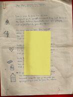 Poème Manuscrit Pour La Fête Des Mères Peut-être écrite Pendant La 2° Guerre - Garçon Orphelin De Père - Anonyme - Manoscritti
