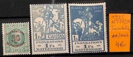 NB - [814877]TB//**/Mnh-Belgique 1925 - N° 237/39, Inondation, Animaux, Chevaux, Portraits, Célébrité - Belgique