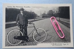 LAEKEN : Publicité Cycles VAN HAUWAERT BXL, Le Modèle De Luxe Type III - Werbepostkarten