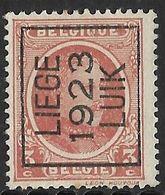 Luik 1923  Typo Nr. 82A - Sobreimpresos 1922-31 (Houyoux)