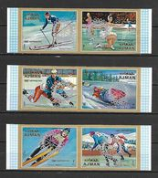 Ajman 1971 ROTARY Ovp On Winter Olympic IMPERFORATE MNH - Inverno1972: Sapporo