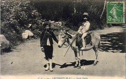 D65  CAUTERET  Jeune Guide ..... Enfant Sur Un Âne - Cauterets