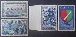 DF50500/940 - 1954 - COLONIES FR. - ALGERIE - N°320-325-352 NEUFS** + POSTE AERIENNE N°7 NEUF** - Algeria (1924-1962)