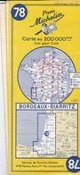 MICHELIN 78, FRANCE, BORDEAUX - BIARRITZ - Cartes Routières