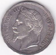 5 FRANCS NAPOLEON III TETE LAUREE ARGENT  900 °/°°  1867  A - J. 5 Francs
