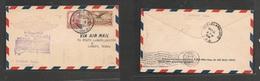 123gone. Mexico Cover- 1928 AIR FLIGHT First Queretaro To Texas Spacial Cachet Fkd Env, Opportunity - Mexiko