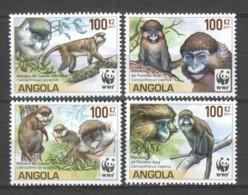 Angola 2011 Mi 1858-1861 MNH WWF - MONKEYS - W.W.F.