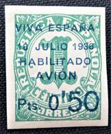 Timbre Local Patriotique De Canarias N° 1 Neuf Avec Charnière - Nationalistische Ausgaben