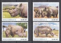 Mocambique - MNH Set WHITE RHINOCEROS - Rinocerontes
