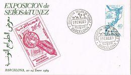 37342. Carta BARCELONA 1969. Exposicion Sellos TUNEZ - 1931-Heute: 2. Rep. - ... Juan Carlos I