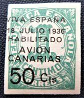 Timbre Local Patriotique De Canarias N° 4A Neuf Avec Trace De Charnière - Nationalistische Ausgaben