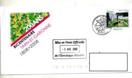 Pap  Picasso Cachet Castelsarrazin Bicentenaire Departement Tarn Et Garonne - Entiers Postaux