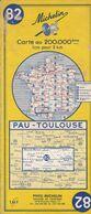 MICHELIN 82, FRANCE, PAU - TOULOUSE - Cartes Routières