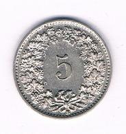 5 RAPPEN 1882 ZWITSERLAND /6327/ - Suiza