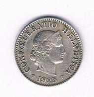 5 RAPPEN 1925 ZWITSERLAND /6329/ - Suiza