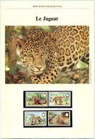 Document WWF - Belize 1983 - Le Jaguar - (N° Yvert & Tellier 650 à 653) (Recto-Verso) - Belize (1973-...)