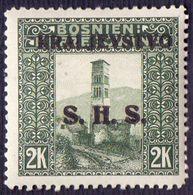 JUGOSLAVIA - BOSNIA - SHS - CLOCK  TOWER  JAJCE  2Kr - **MNH - 1919 - Clocks